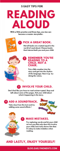 5 EASY TIPS FOR READING ALOUD - INFOGRAPHIC