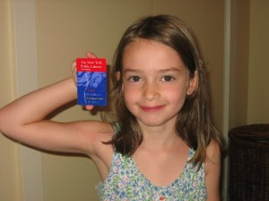 girl with her own library card