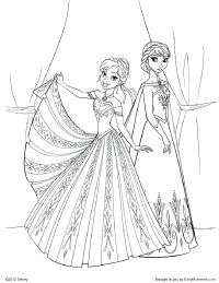 Anna_Elsa_coloring_page