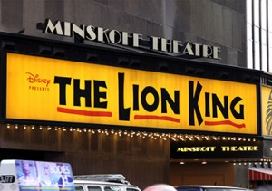 Disney The Lion King at the Minskoff Theatre