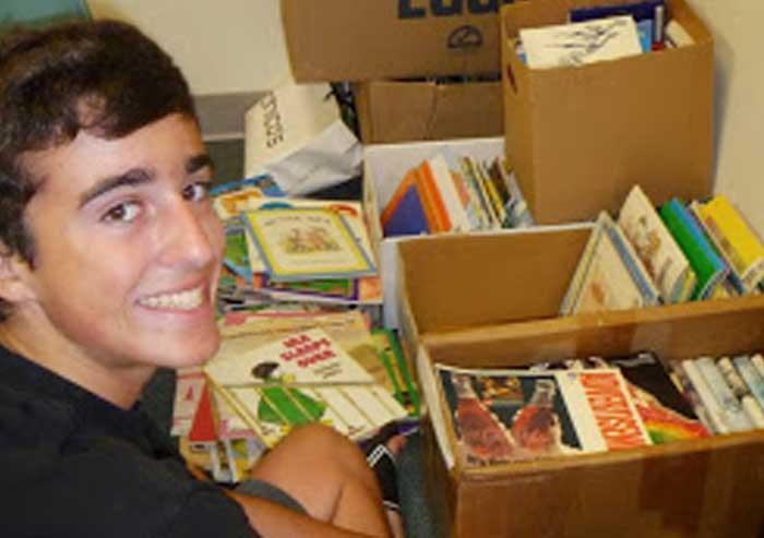 Ryan_Traynor_Donates_Books_to_Schools