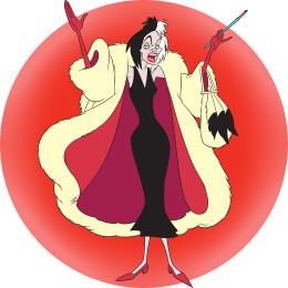 Cruella de Vil from Disney 101 Dalmatains