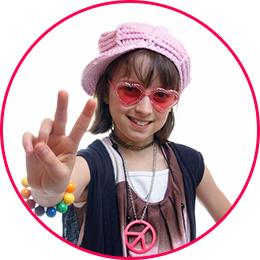 Girl dressed like a hippy