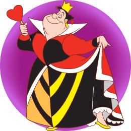 The Queen of Hearts from Alice in Wonderland