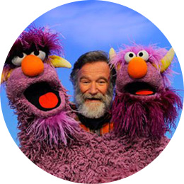 Robin Williams meets two-headed monster