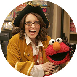 Tina Fey and Elmo