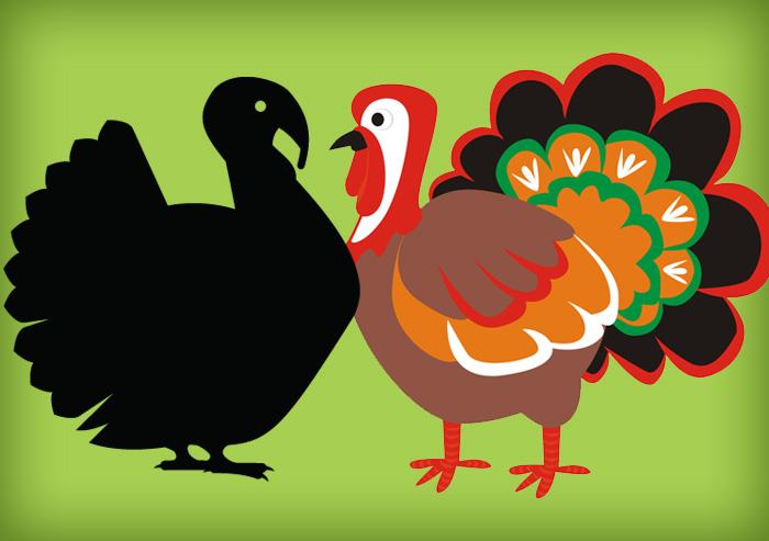 kids' school turkey project