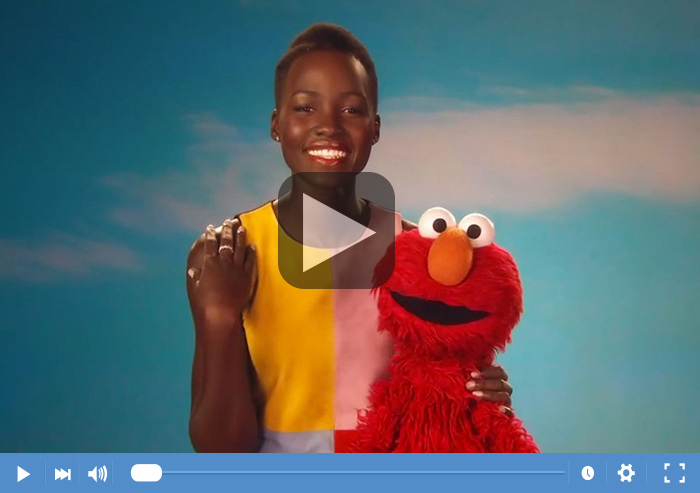 Lupita Nyongo on Sesame Street video