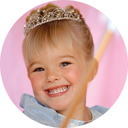 girl dressed up like Cinderella, a Disney Princess