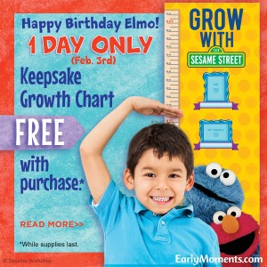Elmo's Birthday Offer