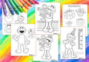 Happy Birthday Elmo coloring pages