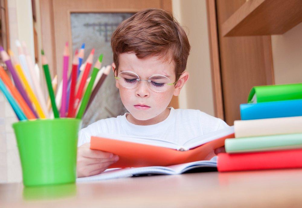 child struggling with homework