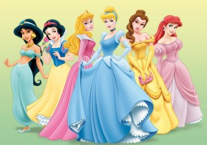 Disney Princesses Jasmine, Snow White, Sleeping Beauty, Cinderella, Belle, Ariel
