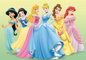 Disney Princesses Jasmine, Snow White, Sleeping Beauty, Cinderella, Belle, Ariel