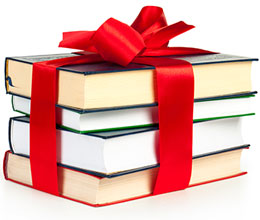 Stack of gift books