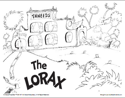 Lorax Coloring Page 3