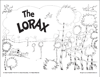 Lorax Coloring Page 2