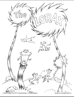 Lorax Coloring Page 1